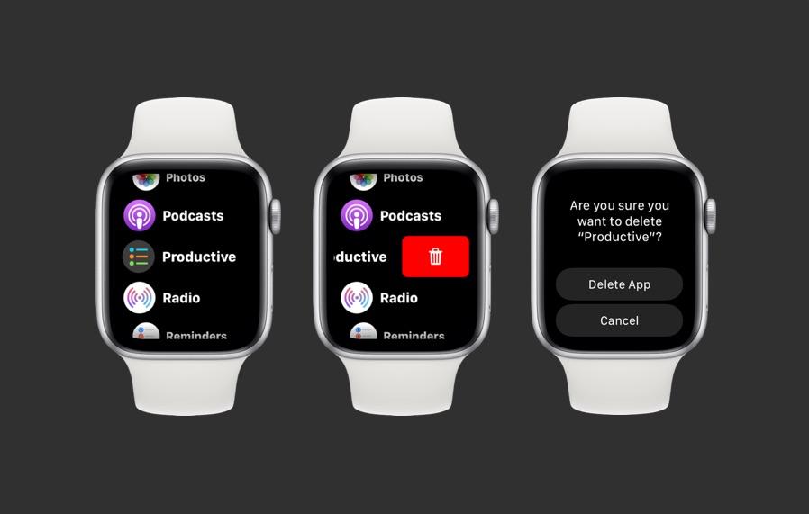 Delete apps Apple Watch List view