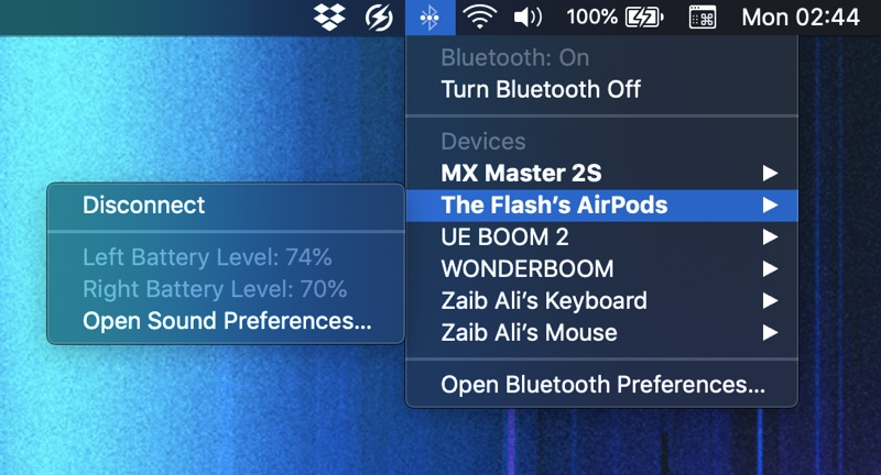 Check AirPods Battery on Mac
