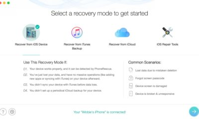 PhoneRescue main iOS