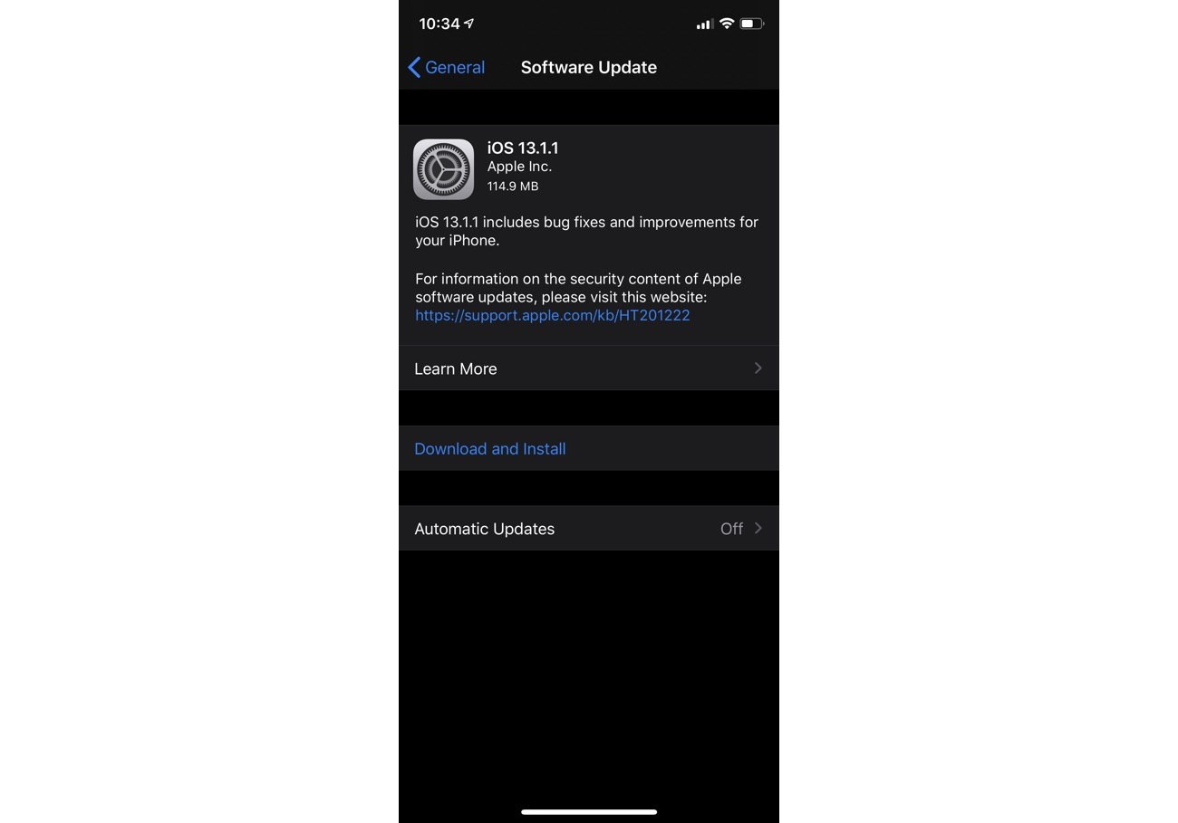 iOS 13.1.1 download