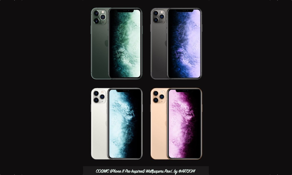 Cosmic iPhone Wallpapers For Midnight Green, Silver, Gold
