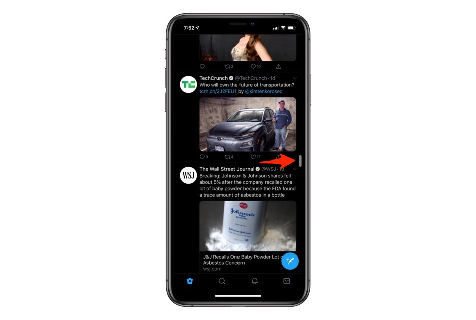 Fast Scrolling tip iOS 13