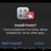 Install fonts iOS 13 feat