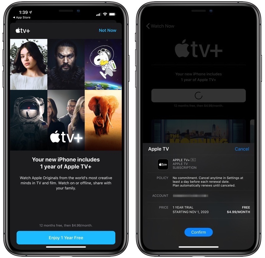 1 Year Apple TV+ Free Subscription iPhone