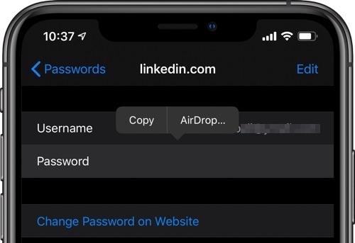 AirDrop Password feat