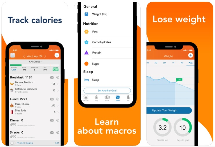 Lose It Calorie Counter app