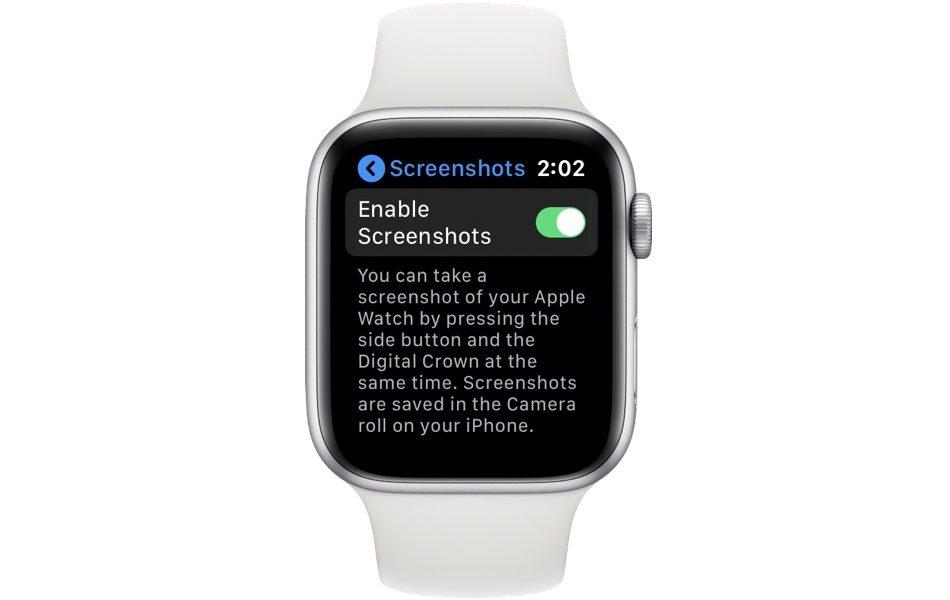 Apple Watch disable screenshots