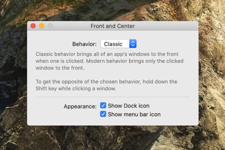 Front And Center App Mac