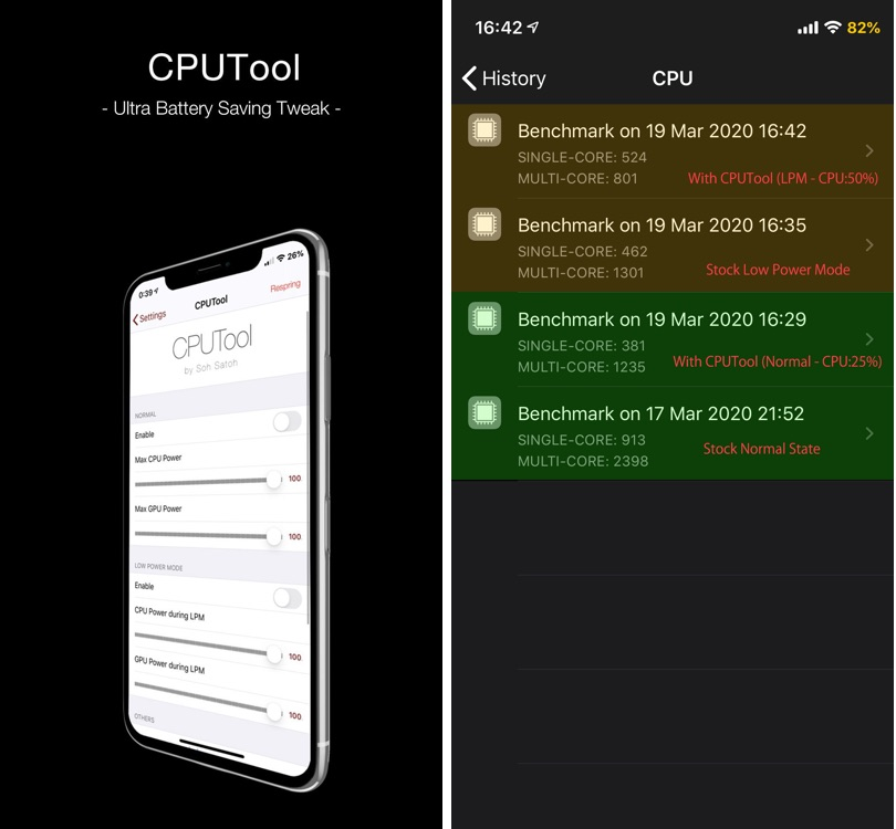 CPUTool tweak