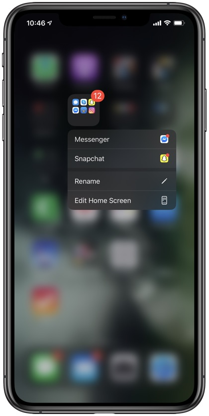iPhone folder tips