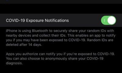 COVID-19 Exposure toggle iOS