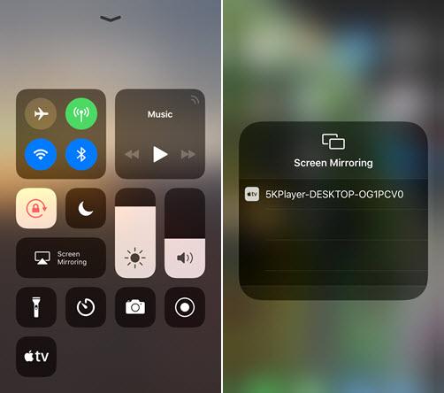 5KPlayer AirPlay Screen Mirroring