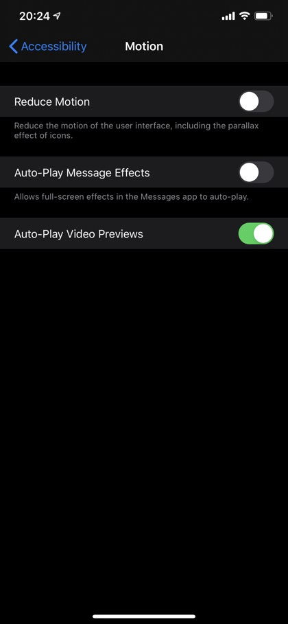 Disable Effects in iMessage