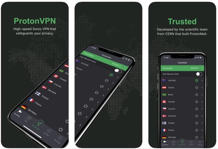ProtonVPN App for iPhone Unlimited VPN Data Free