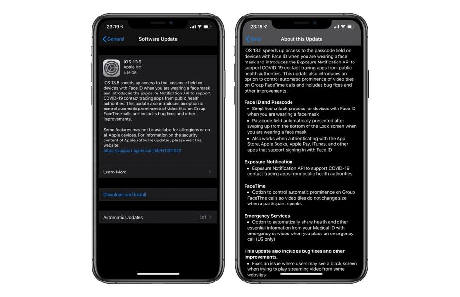 iOS 13.5 release