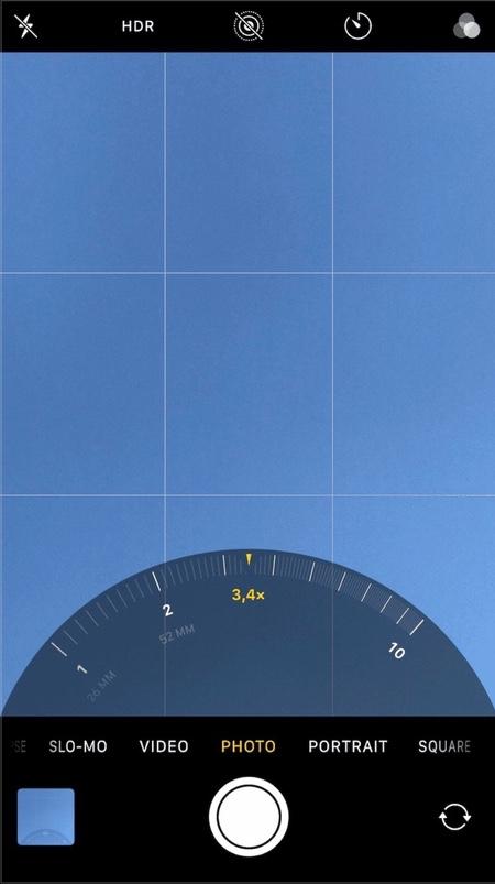 Camera Zoom Slider tweak