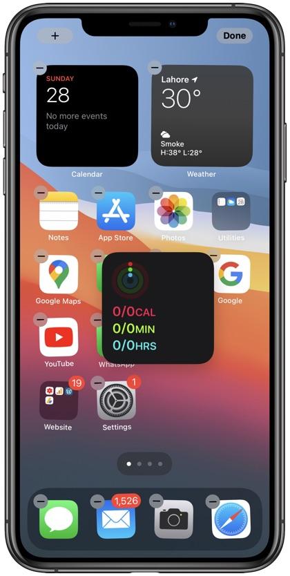 Add widget to iPhone