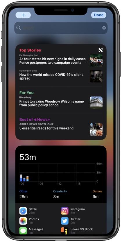 Add Widget to iPhone home screen