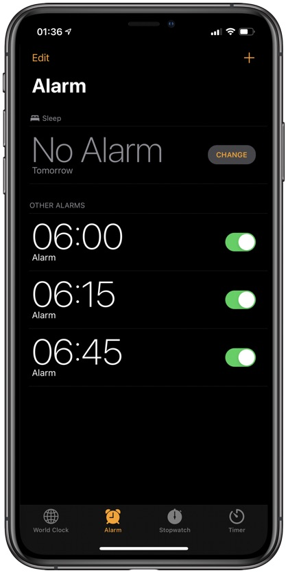 Change Snooze Time on iPhone
