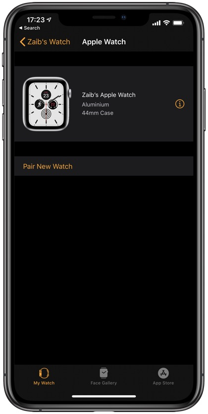 Check Apple Watch Activation Lock
