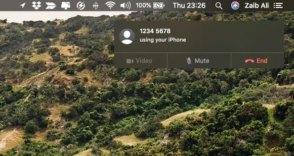 Make calls from Mac