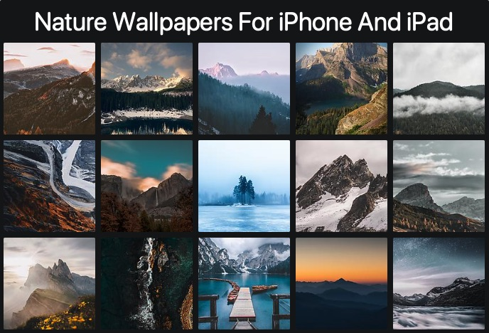 Download 15 Nature Wallpapers For iPhone And iPad