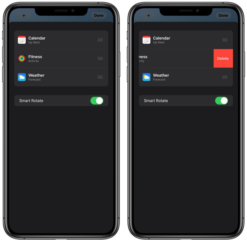Edit or Rearrange iPhone Widget Stacks