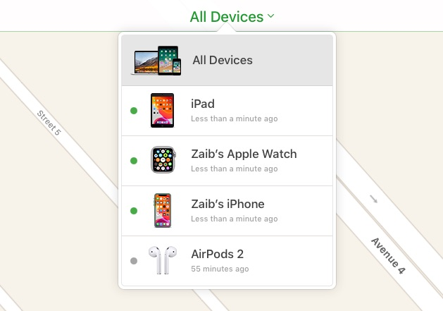Find My iCloud All Devices
