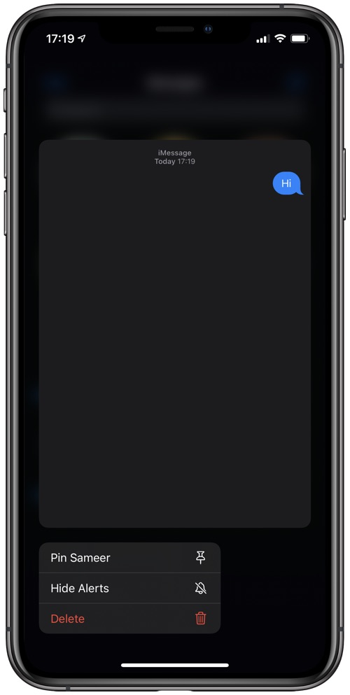 iMessage Pinned Conversations iOS 14