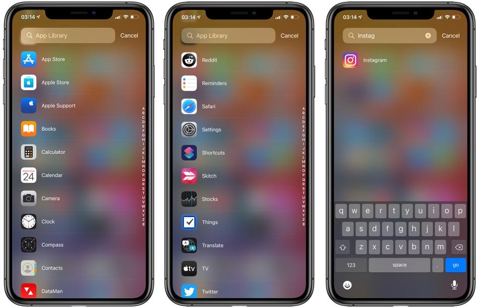 Προβολή αρχικής λίστας iOS 14