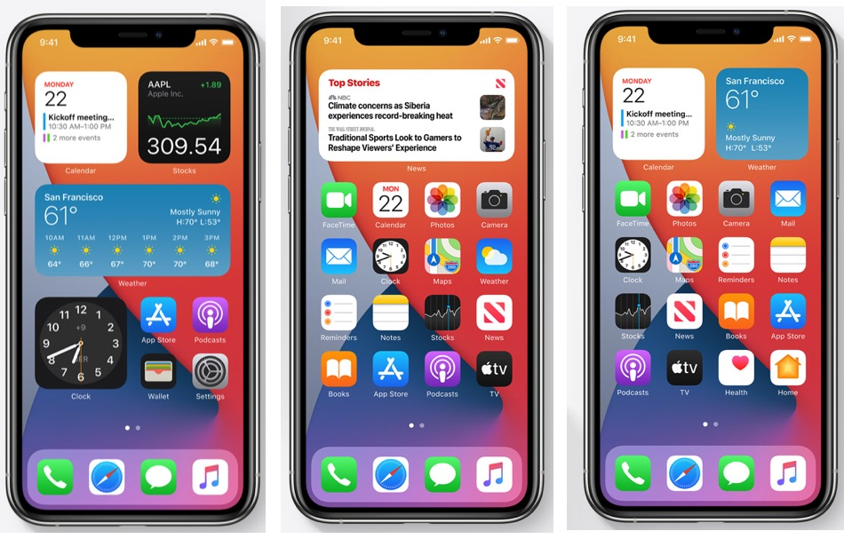 iOS 14 Widgets iPhone