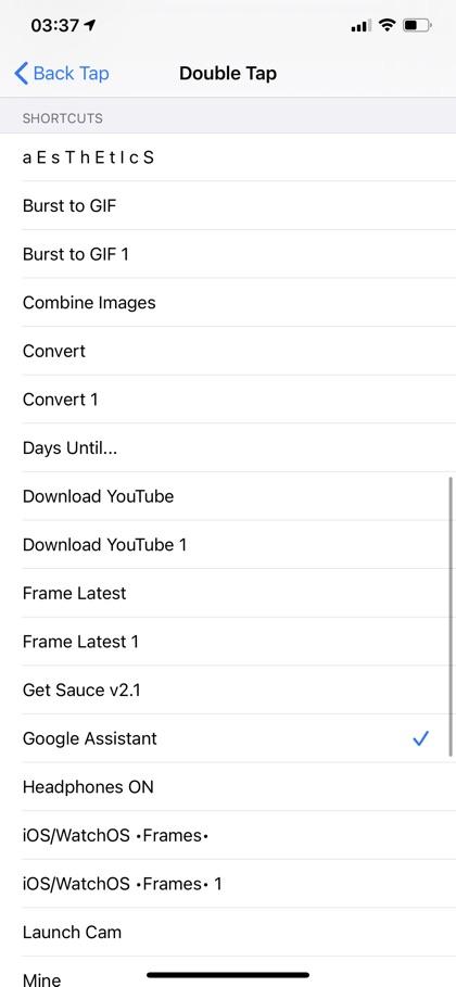 iOS 14 back tap Shortcuts