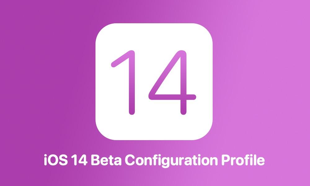 iOS 14 beta configuration profile