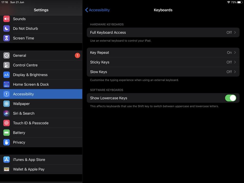 Type faster on iPad