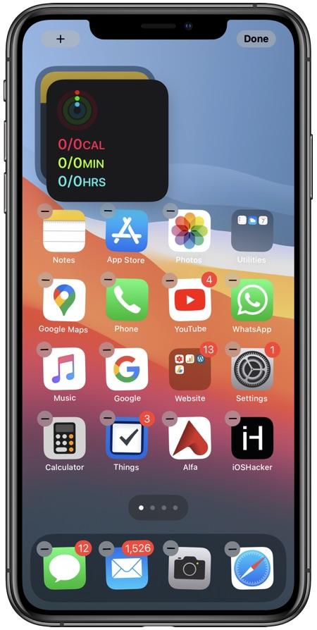 Create Widget Stack iPhone