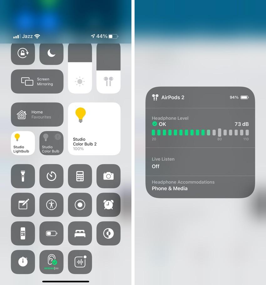 Headphone Level iOS 14