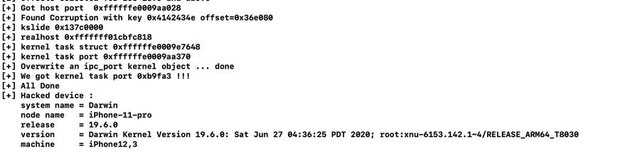 IOS 13.6 jailbreak screenshot