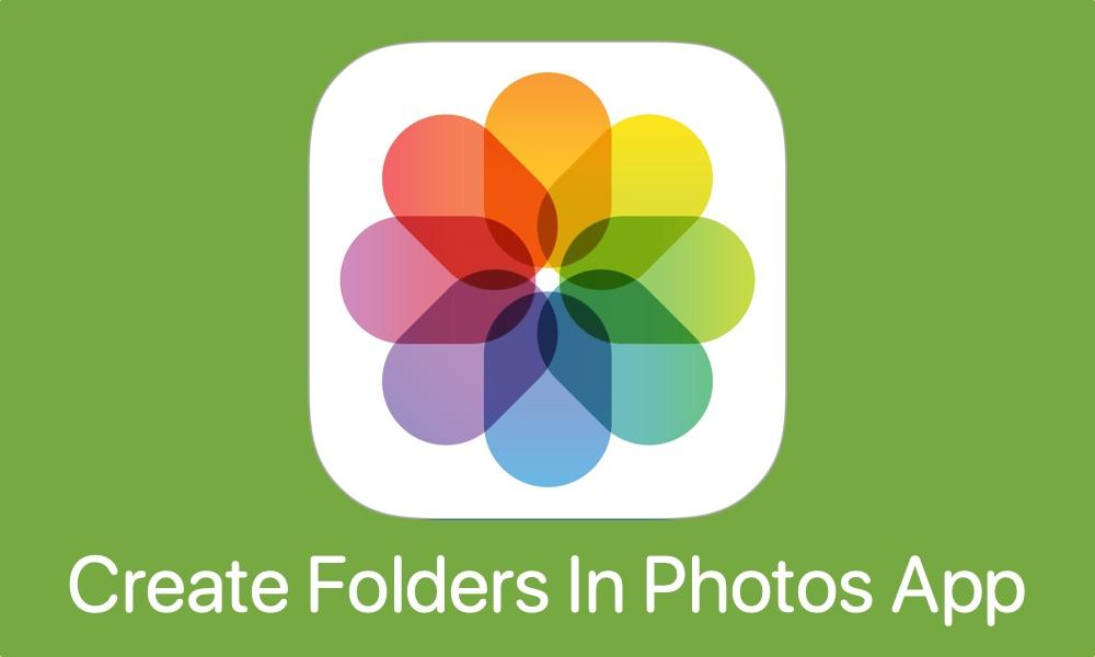 Photos app create folders feat
