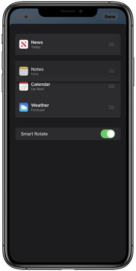 Rearrange widget stack iOS 14