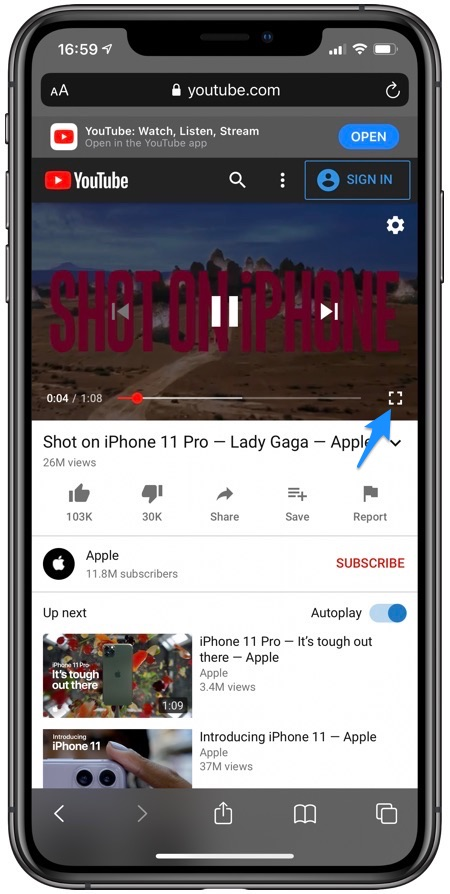 YouTube Audio Background Safari iOS 14