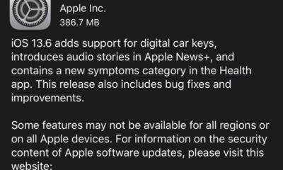 iOS 13.6 update