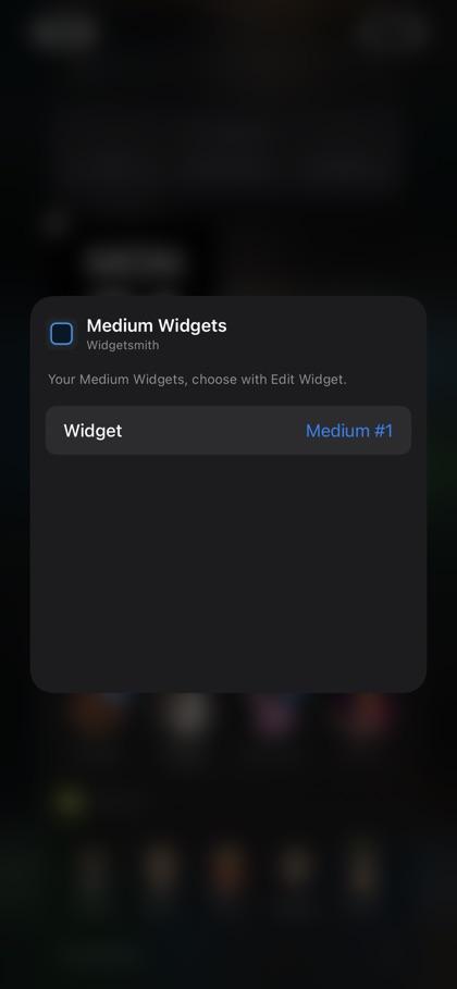Widgetsmith app