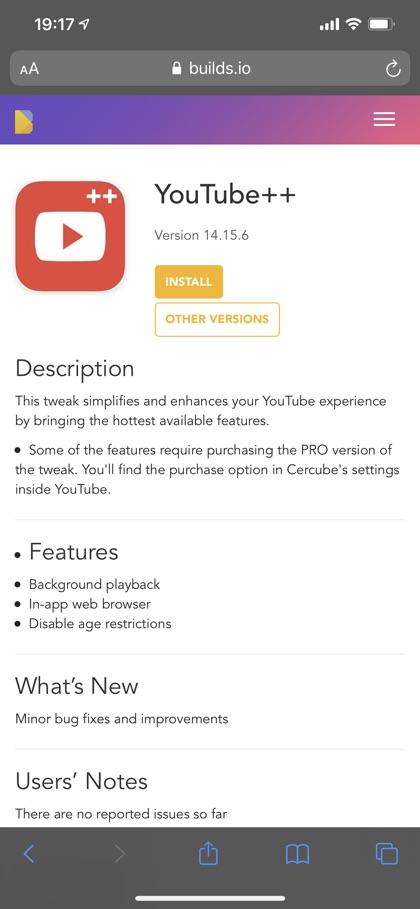 YouTube ++ buildstore