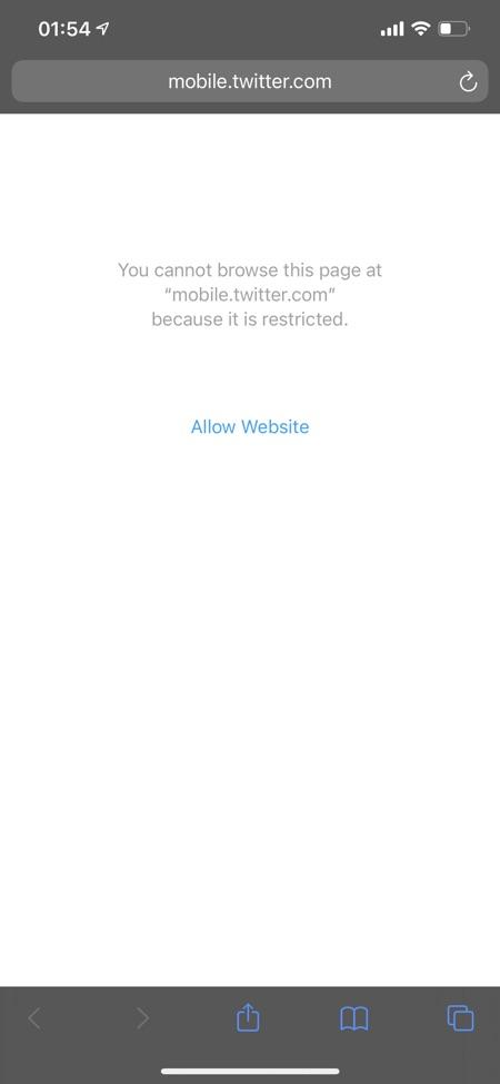 Blockera webbplatser på iPhone