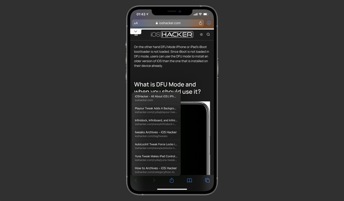 How To Quickly Return To A Previously Opened Page In iPhone Safari - iOS Hacker